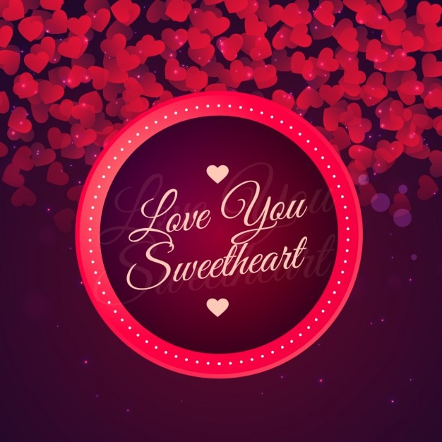 Download Love you sweetheart background | Free Vector