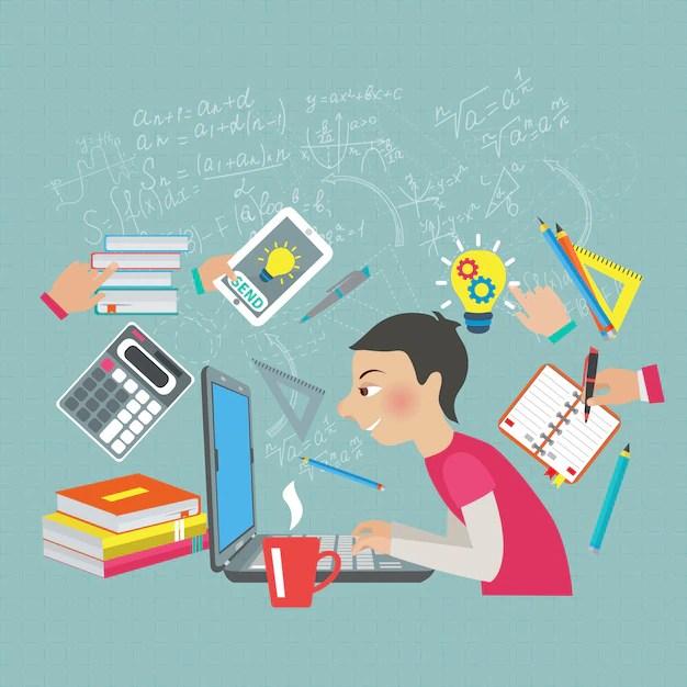 Mathematics Student Concept Free Vector