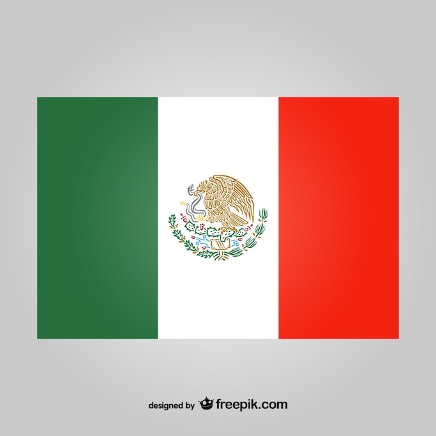 mexican flag vector vector free download