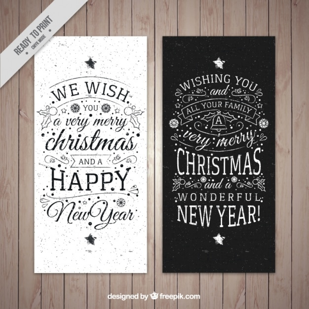 Modern Christmas Card Pack Vector Free Download