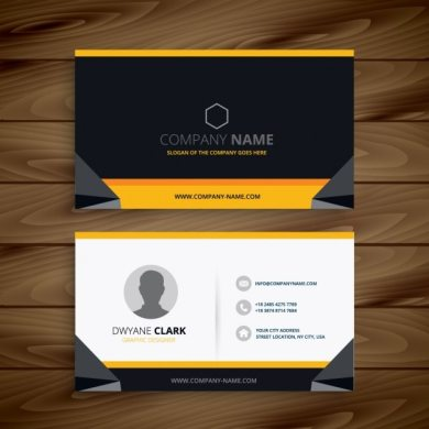 Modern creative business card Vector   Free Download Modern creative business card Free Vector
