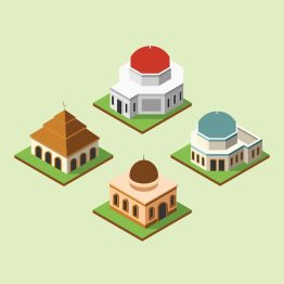 Masjid Vector 3d - Nusagates
