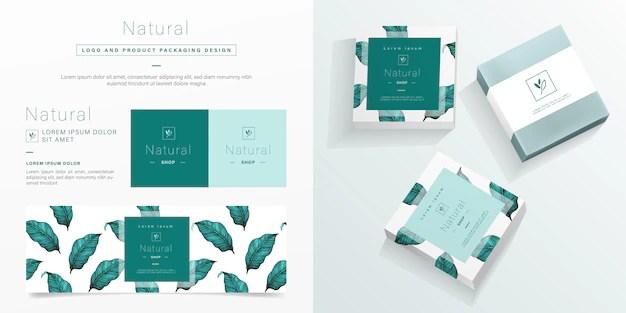 Natural Logo And Packaging Design Template Mockup Soap