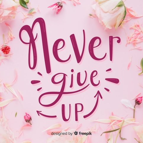 Free Vector | Never give up