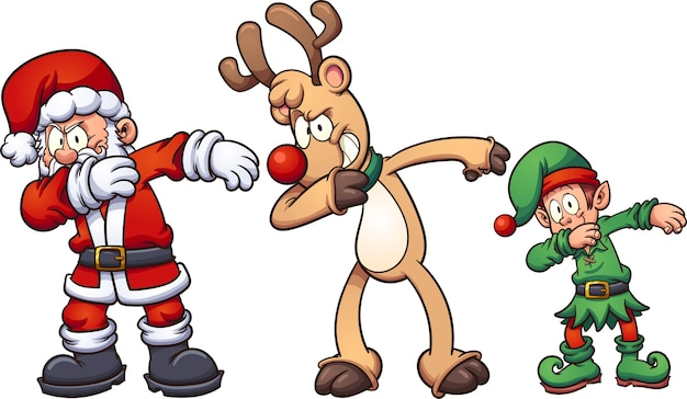 Animated Christmas Cartoon Characters