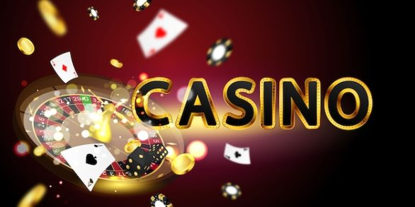 Premium Vector | Online casino. smartphone or mobile phone, slot machine,  casino chips flying realistic tokens for gambling, cash for roulette or  poker,