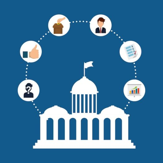 Presidents day concept with icon design, vector ...