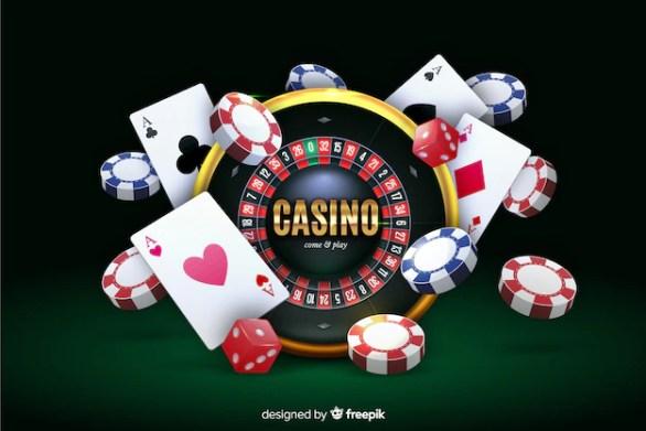 Free Vector   Realistic casino background