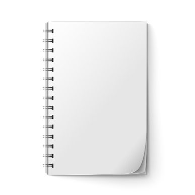 Realistic notepad blank Free Vector