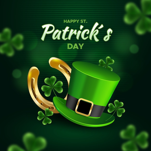 Realistic st. patrick's day concept Free Vector
