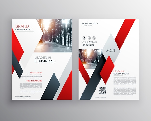 Red business flyer template Vector   Premium Download Red business flyer template Premium Vector