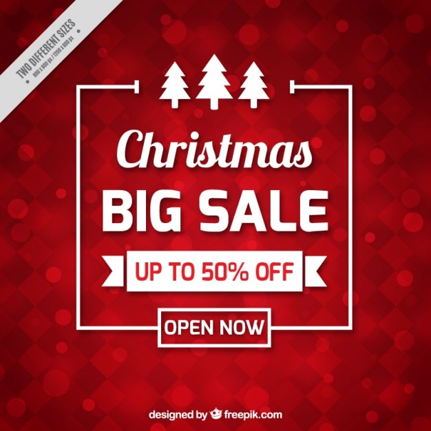 Red Christmas Sale Background Vector Free Download