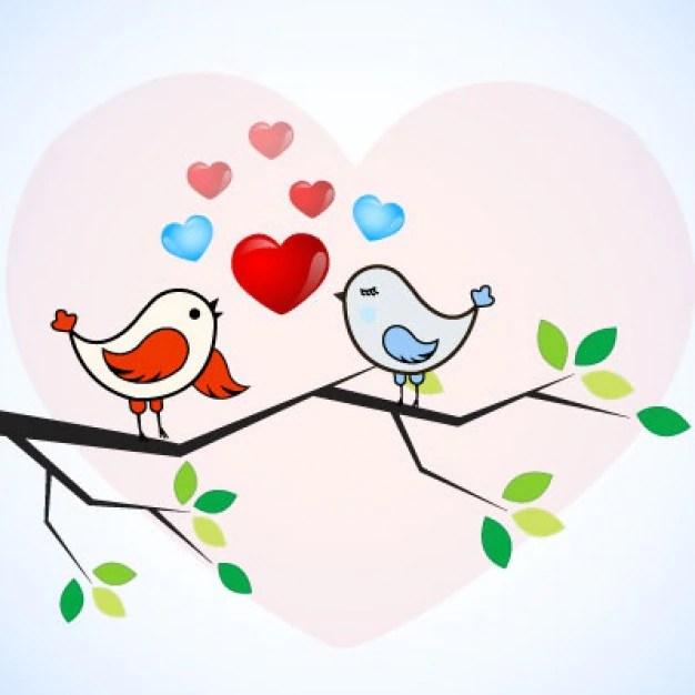 Download romantic love birds Vector   Free Download