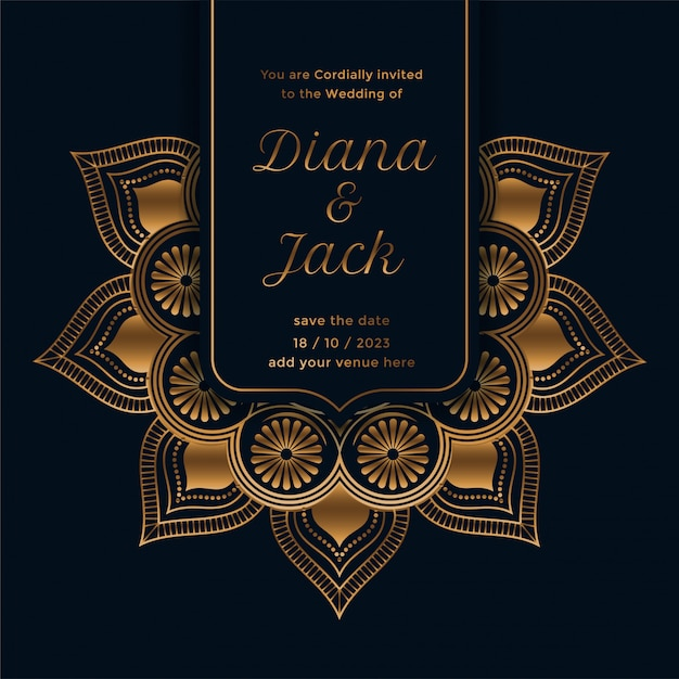 royal wedding invitation template with