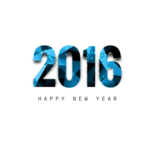 Shiny polygonal new year 2016 text Vector   Free Download Shiny polygonal new year 2016 text Free Vector