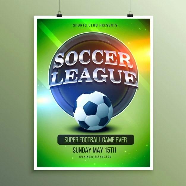 soccer team flyer template free