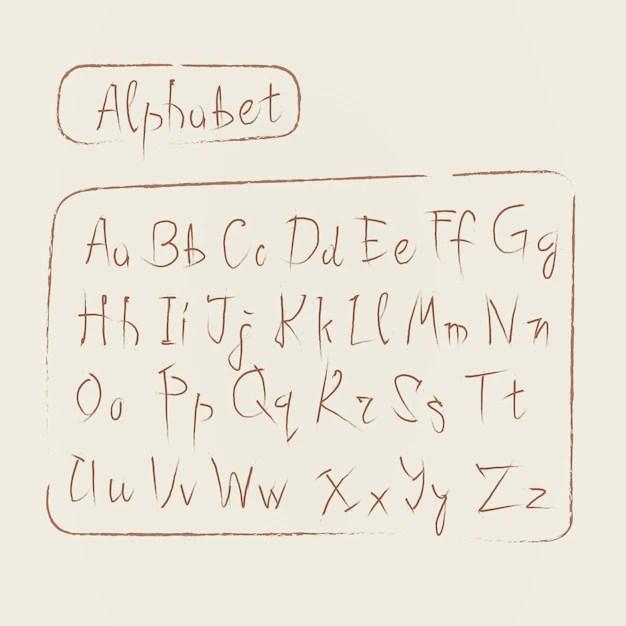 Download Sketch alphabet letters collection text font set Vector ...