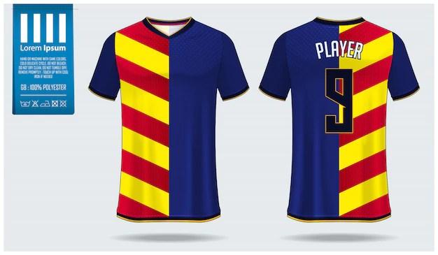 Download Soccer jersey or football kit mockup template design ...