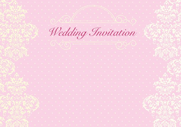 The Pink Wedding Invitation Card Background Template Premium Vector