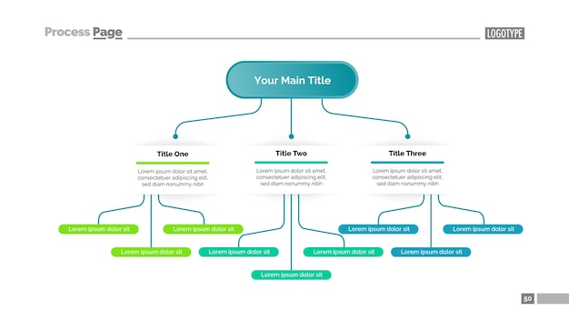 Tree Chart With Three Elements Template Vector Free Download