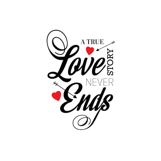 Download A true love story never ends Vector | Free Download
