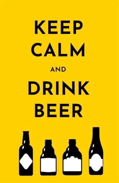 Download Vector illustration template with beer bottles Vector ...