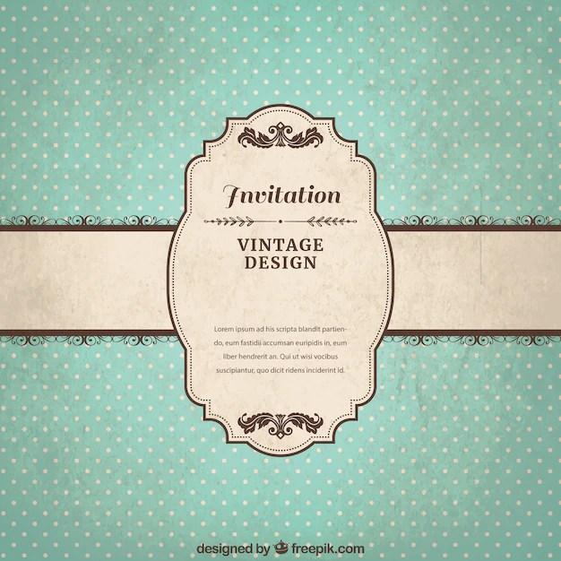 free vector vintage invitation template