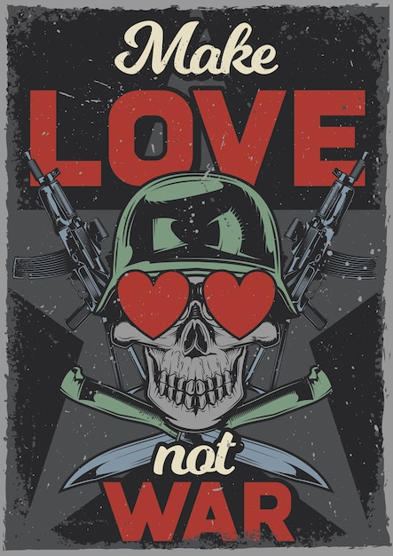 free vector vintage poster with