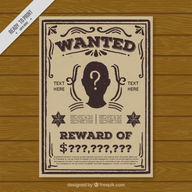 Wanted Template Poster wanted poster blank reward stock images – Wanted Template Poster