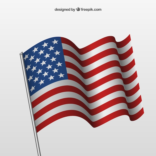 Download Waving american flag Vector | Free Download
