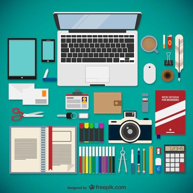 Web Designer Equipment Collection Vector Free Download