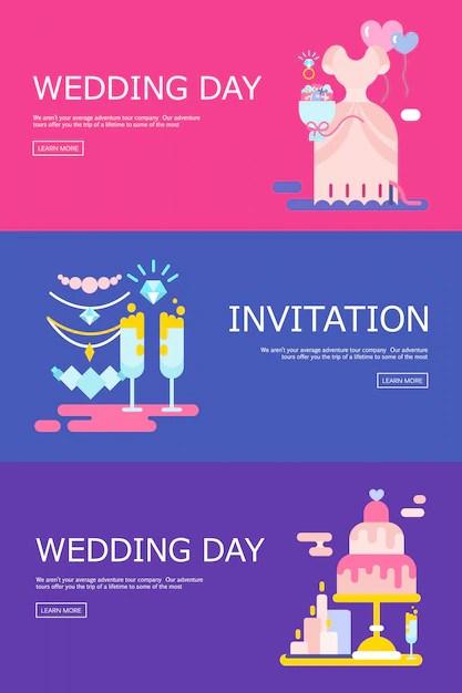 free vector wedding illustration of