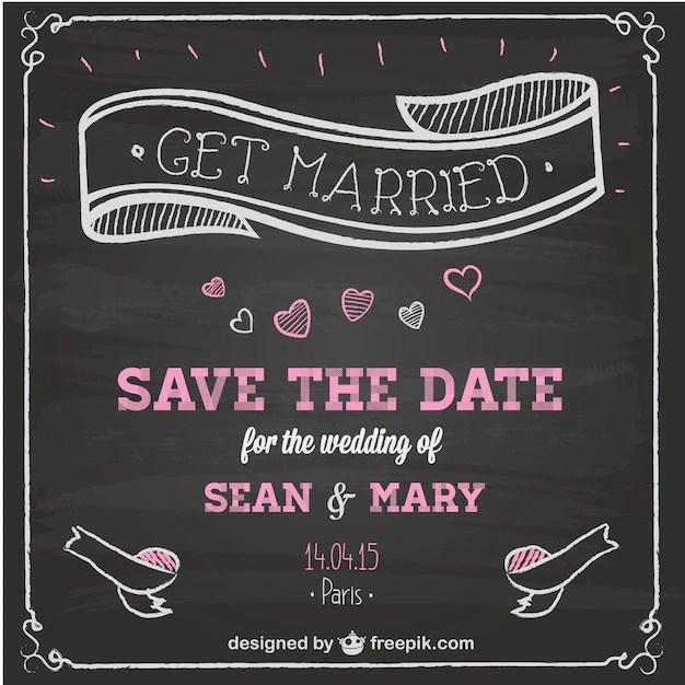 wedding invitation chalkboard design