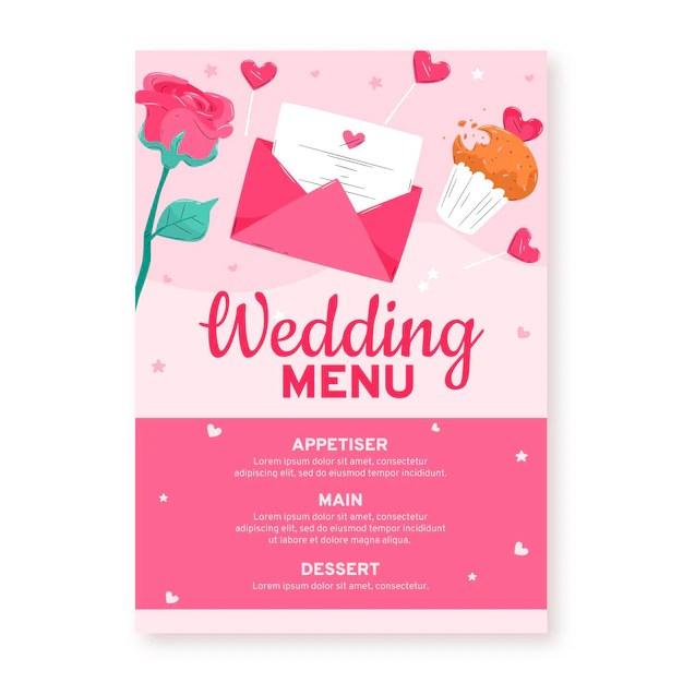 wedding invitation restaurant menu