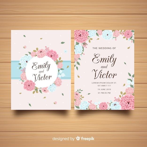 wedding invitation template with