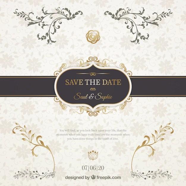 Wedding Invitation With Elegant Black Ribbon