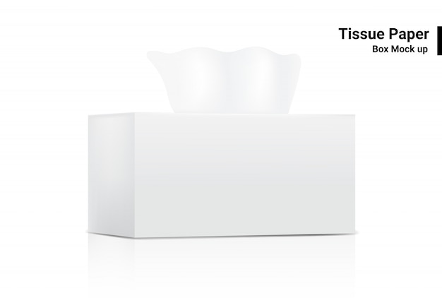 Download White tissue box mock up realistic product packaging on ...