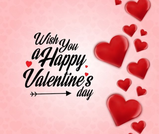Wish You A Happy Valentines Day Heart Frame Background Free Vector