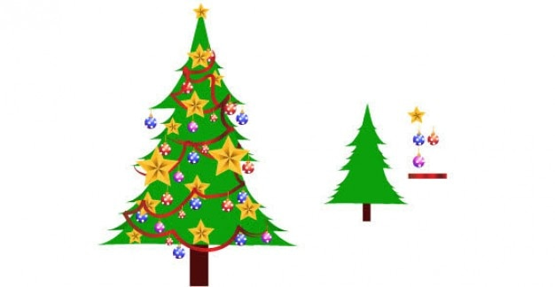 X Mas Trees Vector Free Download