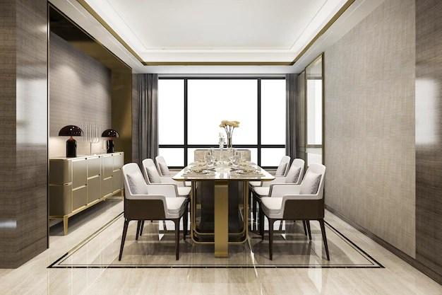 salle a manger de luxe moderne