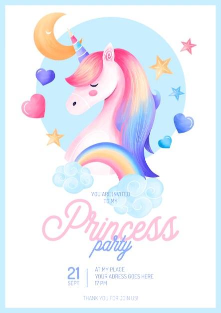 modele d invitation de fete princesse