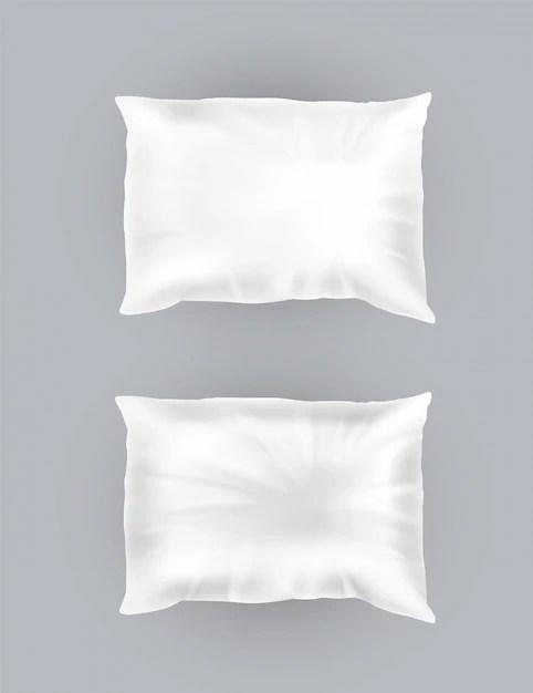 maquette de coussin blanc moelleux