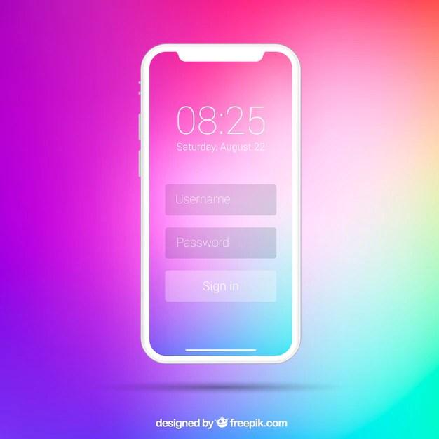 iphone x avec fond d ecran degrade