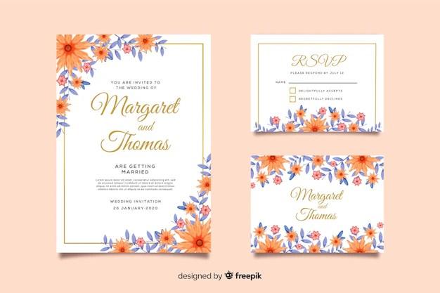 invitation de mariage et rsvp vecteur