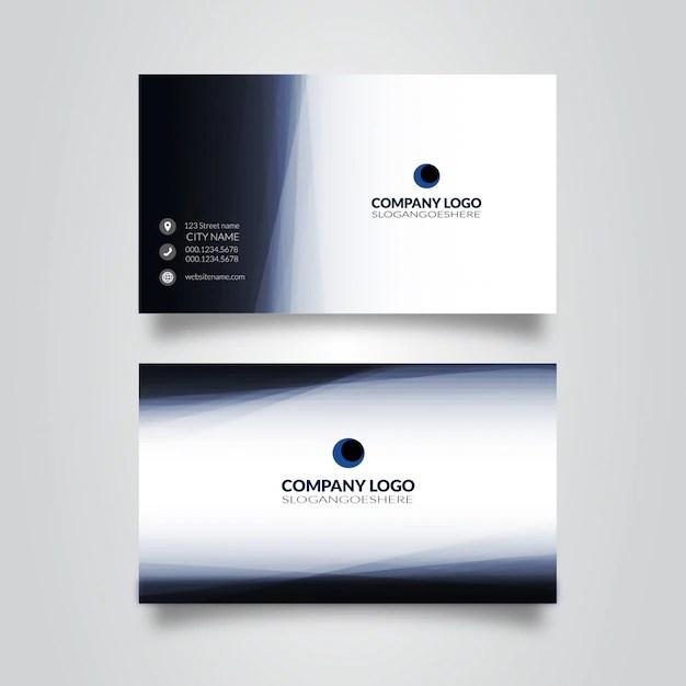 modele de carte de visite bleu recto