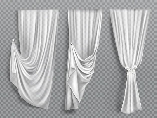 rideaux de fenetre blancs sur fond
