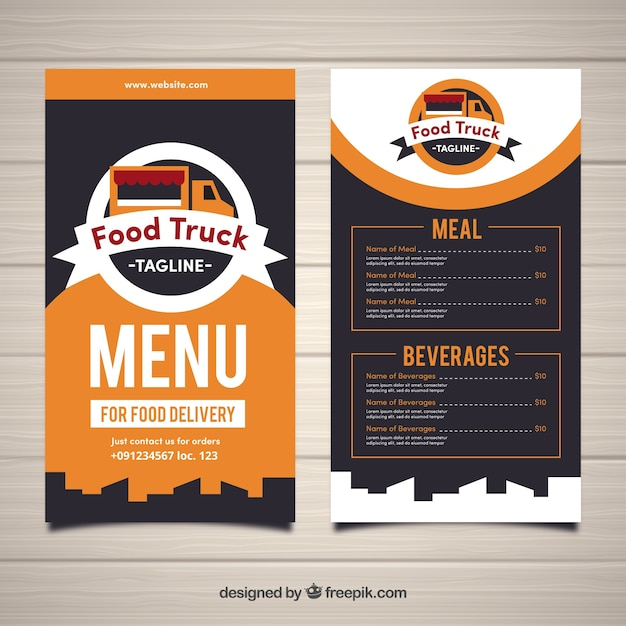Men De Food Truck Moderno Y Con Estilo Descargar