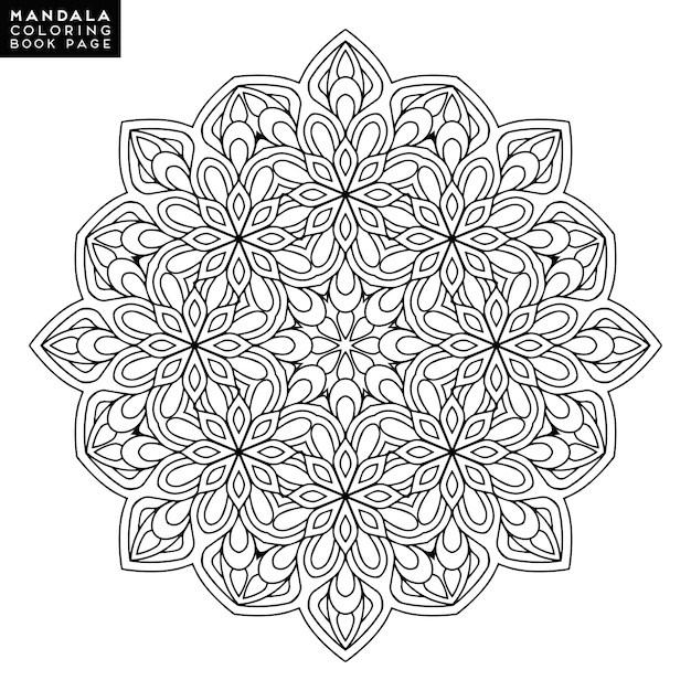 Umriss Mandala Fr Malbuch Dekorative Runde Verzierung