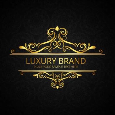 Fundo dourado e dourado da marca de luxo | Baixar vetores ...