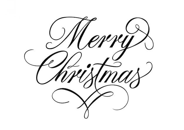 Letra Do Feliz Natal Com Flourish Baixar Vetores Grtis